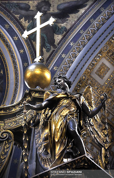Particular,the Altar of the Chair of Saint Peter by Bernini,Vatican Basilica.Pope Benedict XVI leads the holy mass of Pentecost Sunday in Saint Peter's Basilica at the Vatican on May 27, 2012.