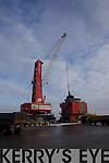Vital salt supplies been offloaded from the Ukraine vessel, Jumbo Nassau, last Saturday in Foynes Port, Co Limerick.