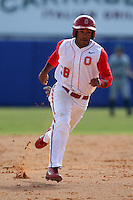 March 23, 2010:  Outfielder Chris Griffin of the Ohio State University Buckeyes during a game at the Chain of Lakes Stadium in Winter Haven, FL.  Photo By Mike Janes/Four Seam Images