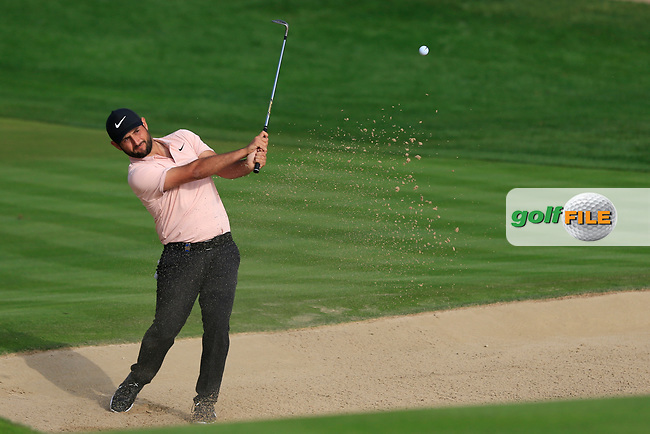 Alexander Levy (FRA) on the 3rd during Round 2 of the Omega Dubai Desert Classic, Emirates Golf Club, Dubai,  United Arab Emirates. 25/01/2019<br /> Picture: Golffile   Thos Caffrey<br /> <br /> <br /> All photo usage must carry mandatory copyright credit (© Golffile   Thos Caffrey)