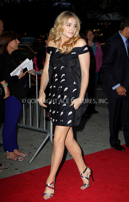 ACEPIXS.COM<br /> <br /> September 22 2014, New York City<br /> <br /> Actress Chloe Grace Moretz attends the 'The Equalizer' New York premiere at the AMC Lincoln Square Theater on September 22, 2014 in New York City.<br /> <br /> By Line: Nancy Rivera/ACE Pictures<br /> <br /> ACE Pictures, Inc.<br /> www.acepixs.com<br /> Email: info@acepixs.com<br /> Tel: 646 769 0430
