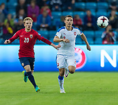 June 10th 2017, Ullevaal Stadion, Oslo, Norway; World Cup 2018 Qualifying football, Norway versus Czech Republic;  Mats Moller Daehli of Norway holds of a challenges from Pavel Kaderabek of Czech Republic during the FIFA World Cup qualifying match