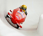 5 January 2008: Three time Powerade Pro Stock NHRA Champion Jeg Coughlin exits a turn at the 3rd Annual Chevy Geoff Bodine Bobsled Challenge at the Olympic Sports Complex on Mount Van Hoevenberg, in Lake Placid, New York...Mandatory Photo Credit: Ed Wolfstein Photo