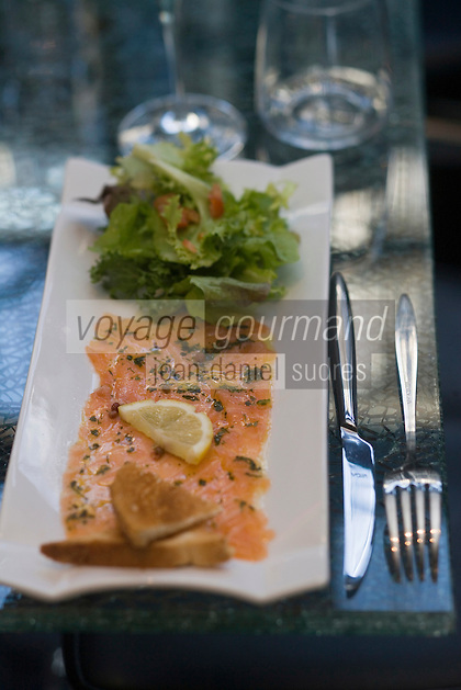 "Europe/France/Bretagne/29/Finistère/Brest: Restaurant""L'Olive"" Saumon mariné"
