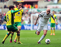 Swansea v Norwich, Liberty Stadium, Saturday 29th march 2014...<br /> <br /> <br /> <br /> Swansea's Jonjo Shelvey