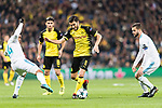 Borussia Dortmund Midfielder Nuri Sahin (C) in action against Carlos Casemiro of Real Madrid (L) during the Europe Champions League 2017-18 match between Real Madrid and Borussia Dortmund at Santiago Bernabeu Stadium on 06 December 2017 in Madrid Spain. Photo by Diego Gonzalez / Power Sport Images