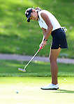 SIOUX FALLS, SD - SEPTEMBER 22:  South Dakota State University's Isiamiah Feud rolls her putt on the 11h hole Monday at the Jackrabbit Invitational at Minnehaha Country Club. (Photo/Dave Eggen/Inertia)