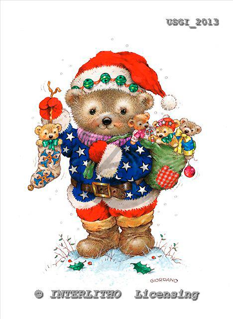 GIORDANO, CHRISTMAS ANIMALS, WEIHNACHTEN TIERE, NAVIDAD ANIMALES, Teddies, paintings+++++,USGI2013,#XA#