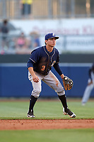 San Antonio Missions second baseman Luis Urias (3) in the field during a game against the Tulsa Drillers on June 1, 2017 at ONEOK Field in Tulsa, Oklahoma.  Tulsa defeated San Antonio 5-4 in eleven innings.  (Mike Janes/Four Seam Images)