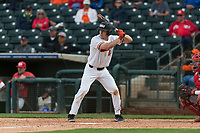 Oregon State Beavers pinch hitter Alex McGarry (44) at bat during a game against the New Mexico Lobos on February 15, 2019 at Surprise Stadium in Surprise, Arizona. Oregon State defeated New Mexico 6-5. (Zachary Lucy/Four Seam Images)
