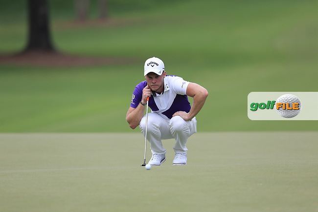 Danny Willett (ENG) lines up his putt on the 12th green during Friday's Round 2 of the 2017 PGA Championship held at Quail Hollow Golf Club, Charlotte, North Carolina, USA. 11th August 2017.<br /> Picture: Eoin Clarke | Golffile<br /> <br /> <br /> All photos usage must carry mandatory copyright credit (&copy; Golffile | Eoin Clarke)