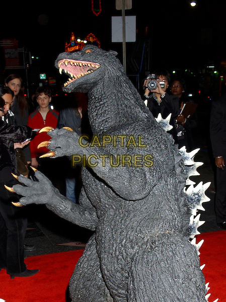 "GODZILLA.World Premiere of ""Godzilla Final Wars"" held at Grauman's Chinese Theatre, Hollywood, California,.29 November 2004..half length.**UK SALES ONLY**.Ref: ADM.www.capitalpictures.com.sales@capitalpictures.com.©L.Farr/AdMedia/Capital Pictures ."