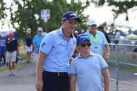 Paul Dunne (IRL) stops for a photo after coming off the 18th during Round 3 of the HNA Open De France at Le Golf National in Saint-Quentin-En-Yvelines, Paris, France on Saturday 30th June 2018.<br /> Picture:  Thos Caffrey | Golffile