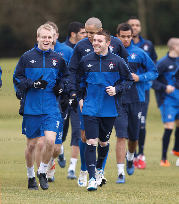 Steven Naismith laughing with John Fleck