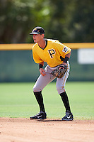 Pittsburgh Pirates Tyler Leffler (38) during an Instructional League Intrasquad Black & Gold game on September 20, 2016 at Pirate City in Bradenton, Florida.  (Mike Janes/Four Seam Images)