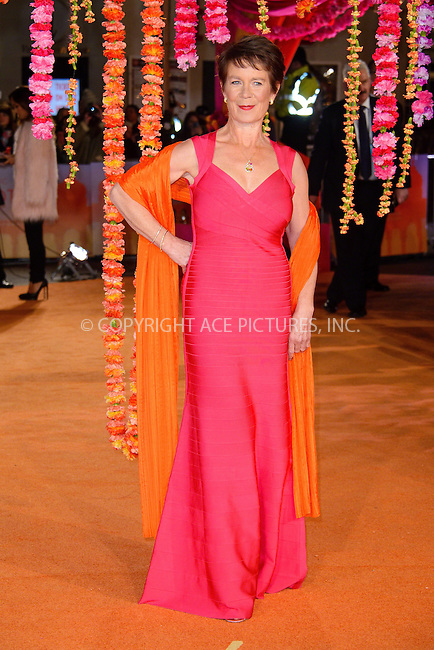 WWW.ACEPIXS.COM<br /> <br /> February 17 2015, London<br /> <br /> Celia Imrie attending The Royal Film Performance and World Premiere of 'The Second Best Exotic Marigold Hotel' at Odeon Leicester Square on February 17, 2015 in London<br /> <br /> By Line: Famous/ACE Pictures<br /> <br /> <br /> ACE Pictures, Inc.<br /> tel: 646 769 0430<br /> Email: info@acepixs.com<br /> www.acepixs.com