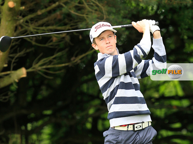 Harry Gillivan (Westport) on the 2nd tee during Round 3 of the Irish Boys Amateur Open Championship at Tuam Golf Club on Thursday 25th June 2015.<br /> Picture:  Thos Caffrey / www.golffile.ie