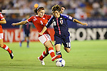 (L to R) Carolyn Mallaun (SUI), Kumi Yokoyama (JPN), .AUGUST 26, 2012 - Football / Soccer : .FIFA U-20 Women's World Cup Japan 2012, Group A .match between Japan 4-0 Switzerland .at National Stadium, Tokyo, Japan. .(Photo by Daiju Kitamura/AFLO SPORT)