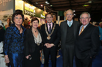 NO FEE PICTURES.25/1/13 Maureen Ledwith, Director Holiday World, Lord Mayor of Dublin is Naoise Ó Muirí and Clare Dunne, President ITAA with Javier Garrigues, Ambassador of Spain and Pat Dawson, CEO ITAA at the Holiday World Show at the RDS, Dublin. Picture:Arthur Carron/Collins