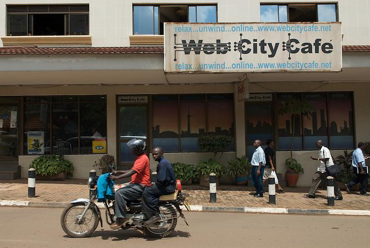 "Web City Cafe?, Kimathi Avenue, Kampala. Founder Fabian says ""we were one of the first in Kampala""."