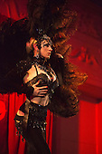 Friday, 10 May 2013, London, UK. Picture: Avdotia, The Russian Doll from Moscow performing Diablo's Mistress. from Opening Gala of Chaz Royal's London Burlesque Festival 2013, running from 10 to 19 May 2013, Bush Hall, Shepherd's Bush, London.