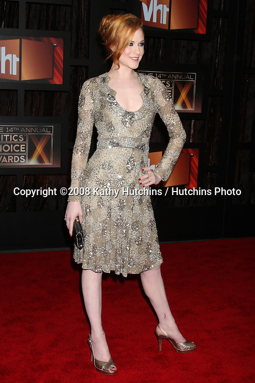 Evan Rachel Wood  arriving at the  Critic's Choice Awards at the Santa Monica Civic Center, in Santa Monica , CA on .January 8, 2009.©2008 Kathy Hutchins / Hutchins Photo..                .