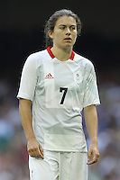 Karen CARNEY of Great Britain - Great Britain Women vs New Zealand Women - Womens Olympic Football Tournament London 2012 Group E at the Millenium Stadium, Cardiff, Wales - 25/07/12 - MANDATORY CREDIT: Gavin Ellis/SHEKICKS/TGSPHOTO - Self billing applies where appropriate - 0845 094 6026 - contact@tgsphoto.co.uk - NO UNPAID USE.