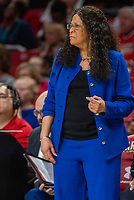 COLLEGE PARK, MD - FEBRUARY 9: C. Vivian Stringer head coach of Rutgers watches a play during a game between Rutgers and Maryland at Xfinity Center on February 9, 2020 in College Park, Maryland.