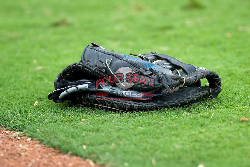 Baseball glove. Image taken at the Dell Diamond on July 10, 2011in Round Rock, Texas. (Andrew Woolley / Four Seam Images)