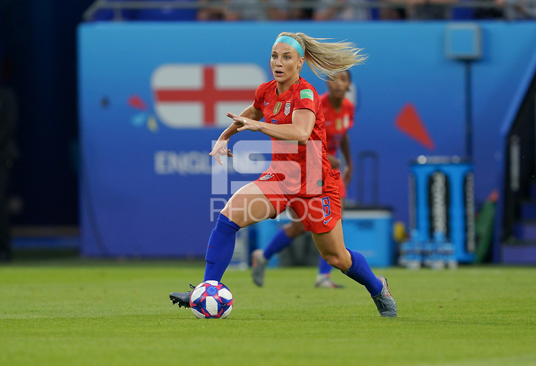 DECINES-CHARPIEU, FRANCE - JULY 02:  during a 2019 FIFA Women's World Cup France Semi-Final match between England and the United States at Groupama Stadium on July 02, 2019 in Decines-Charpieu, France.