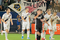 CARSON, CA - SEPTEMBER 15: Zlatan Ibrahimovic #9 of the Los Angeles Galaxy celebrates his goal during a game between Sporting Kansas City and Los Angeles Galaxy at Dignity Health Sports Complex on September 15, 2019 in Carson, California.