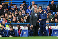 Fulham Manager, Claudio Ranieri and his Assistant, Scott Parker anxiously look on in the second half during Chelsea vs Fulham, Premier League Football at Stamford Bridge on 2nd December 2018
