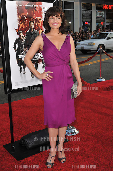 "Carla Gugino at the Los Angeles premiere of ""Inglourious Basterds"" at the Grauman's Chinese Theatre, Hollywood..August 10, 2009  Los Angeles, CA.Picture: Paul Smith / Featureflash"