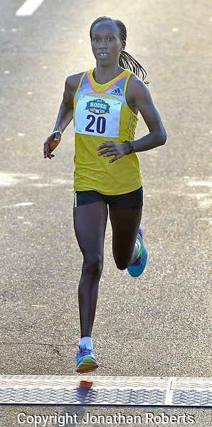Rodes City Run 10K  2015 signature and winners images<br /> <br /> Emmy Chepkirui wins the female division of the Rodes City Run 10K  2015.