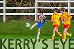 Gearoid Hasset attacking the Avenue defence during the u14 FAI cup in Killorglin on Saturday