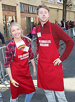 21 December 2018 - Los Angeles, California - Elise Luthman, Joey Luthman. Los Angeles Mission Christmas Meal for the Homeless held at Los Angeles Mission. Photo Credit: F. Sadou/AdMedia