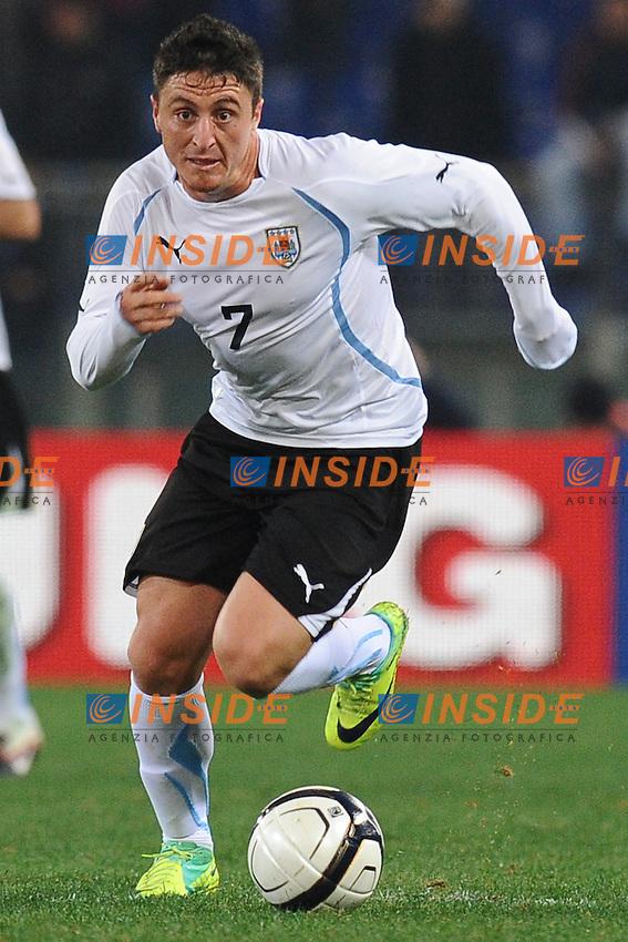 Cristian Rodriguez (Uruguay).Roma 15/11/2011 Stadio Olimpico .Football Calcio .Italia Vs Uruguay Friendly Match .Foto Insidefoto