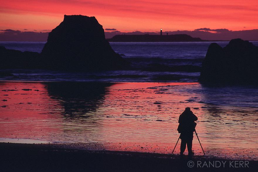 Ruby Beach sunset with photographer