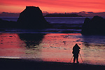 Ruby Beach sunset with photographer