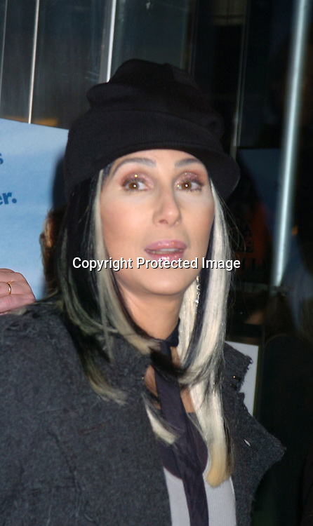 """Cher..at a Special Screening of """"Stuck On You"""" at the Chelsea ..West Theatre on December 8,2003.    Photo by Robin Platzer, Twin Images"""