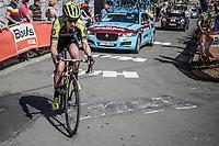 Jessica Allen (AUS/Mitchelton Scott) up the Mur de Huy.<br /> <br /> 21st La Fl&egrave;che Wallonne Femmes <br /> 1 day race: Huy - Huy (118,5KM)