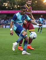 Paris Cowan Hall of Wycombe Wanderers during the Pre-Season Friendly match between Wycombe Wanderers and Queens Park Rangers at Adams Park, High Wycombe, England on the 22nd July 2016. Photo by Liam McAvoy / PRiME Media Images.