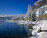 First snow of the season, Twin Lakes in the Mammoth Lakes Basin, California
