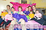Gigglers: Having a few giggles at the parent's and children's play group at the Listowel Family Resource Centre on Monday morning were Bernie and Aibhilin Cudlip, Margaret and Niamh Shanahan, Bernadette, Maurice and Jerry Galvin, Colette, Aimee and Ronan Stack and Margaret and Grainne Daughton.