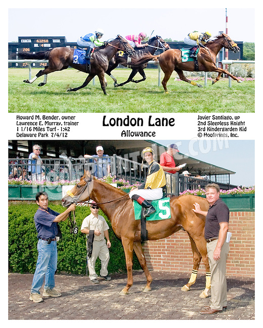 London Lane winning at Delaware Park on 7/4/12