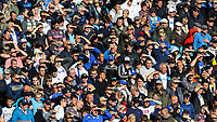 Leeds United fans shield their eyes from the sun during the second half<br /> <br /> Photographer Alex Dodd/CameraSport<br /> <br /> The EFL Sky Bet Championship - Leeds United v Swansea City - Saturday 31st August 2019 - Elland Road - Leeds<br /> <br /> World Copyright © 2019 CameraSport. All rights reserved. 43 Linden Ave. Countesthorpe. Leicester. England. LE8 5PG - Tel: +44 (0) 116 277 4147 - admin@camerasport.com - www.camerasport.com
