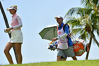 SINGAPORE - MARCH 03: Nelly Korda of USA walking-up the 13th during the final round of the HSBC Women's World Championship 2019 at Sentosa Golf Club - Tanjong Course, Singapore on March 03, 2019.<br /> .<br /> .<br /> .<br /> (Photo by: Naratip Golf Srisupab/SEALs Sports Images)<br /> .<br /> Any image use must include a mandatory credit line adjacent to the content which should read: Naratip Golf Srisupab/SEALs Sports Images