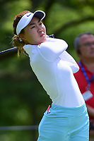 Karen Chung (USA) watches her tee shot on 17 during Thursday's round 1 of the 2017 KPMG Women's PGA Championship, at Olympia Fields Country Club, Olympia Fields, Illinois. 6/29/2017.<br /> Picture: Golffile | Ken Murray<br /> <br /> <br /> All photo usage must carry mandatory copyright credit (&copy; Golffile | Ken Murray)