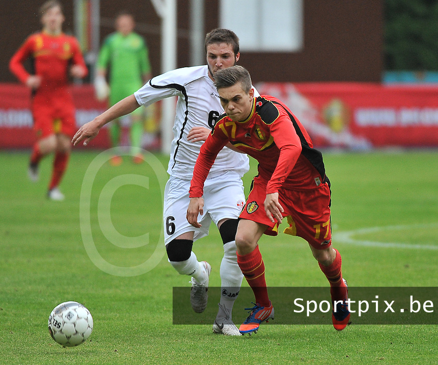 Georgia U19 - Belgium U19 : Leandro Trossard (17) and Daviti Ubilava (6)<br /> foto DAVID CATRY / Nikonpro.be