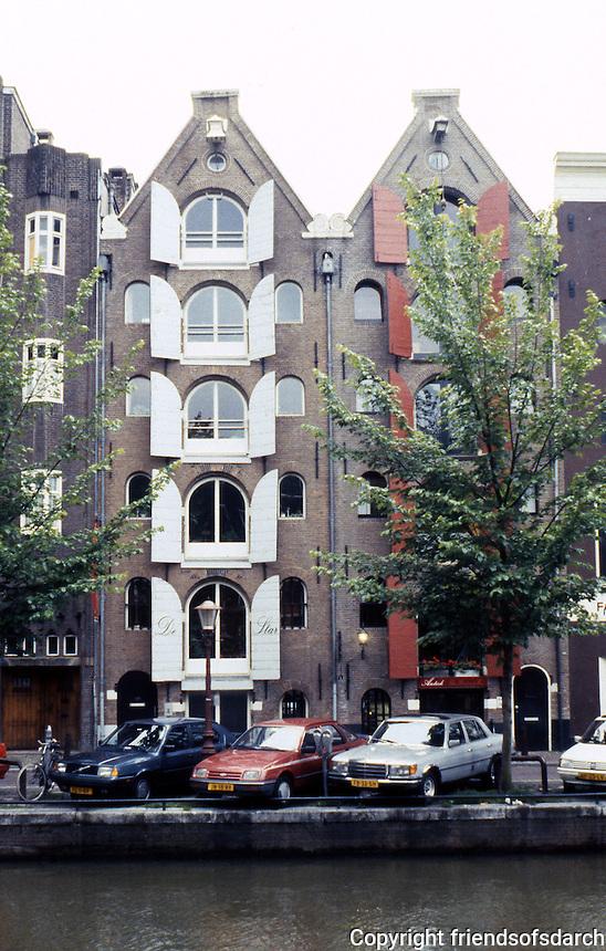 Amsterdam: Prinsengracht--Warehouses. Photo '87.